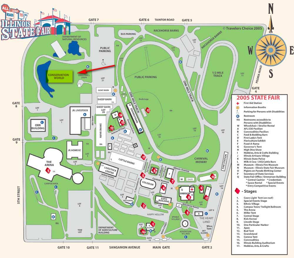 Maps To The Illinois State Fair - Map of the state of illinois