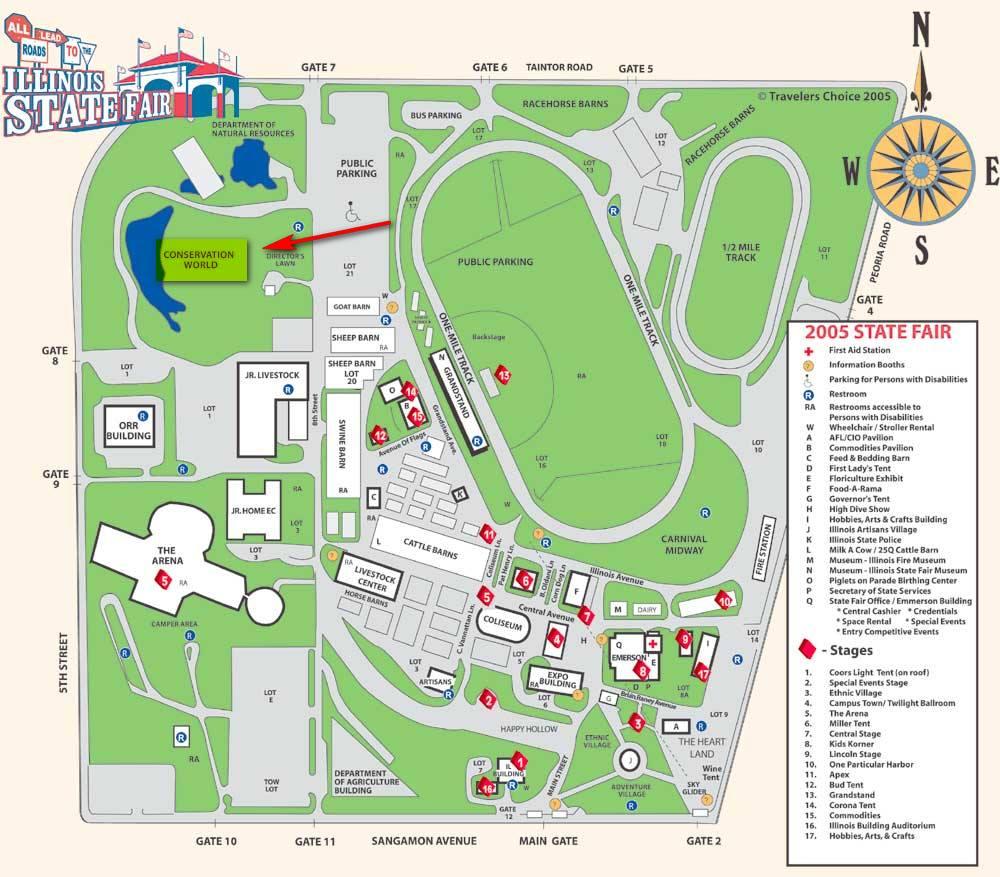 Maps to the Illinois State Fair